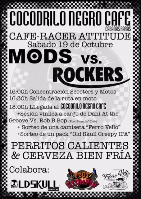 Fiesta motera Mods Vs Rockers en el Cocodrilo Negro Café 2