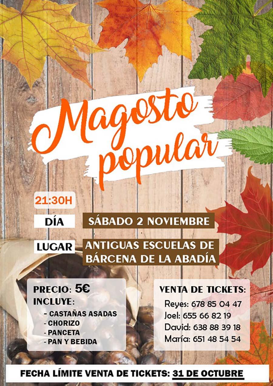 Gran Magosto Popular en Bárcena de la Abadía . 2 de noviembre 2019 2