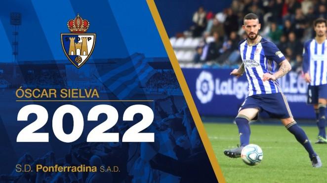 Óscar Sielva renueva con la SD Ponferradina hasta 2022 2
