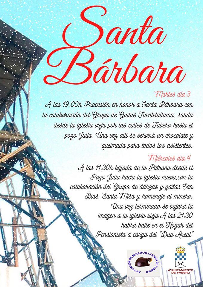 Santa Bárbara 2019 en Fabero 2