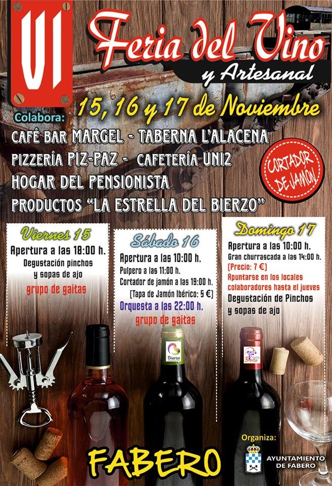 Fabero organiza la VI Feria del vino y artesanía 2