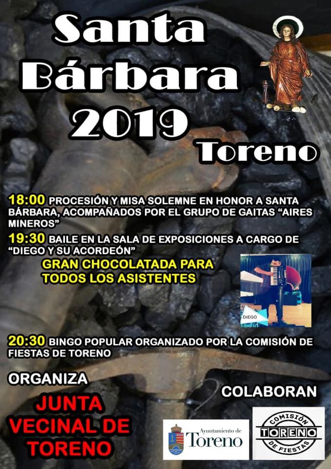 Toreno y Matarrosa rinden honores a Santa Bárbara 2