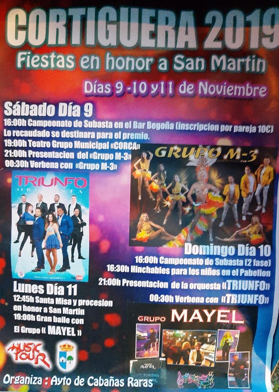 Grandes fiestas en Cortiguera en honor a San Martín. 9 al 11 de noviembre 2019 2