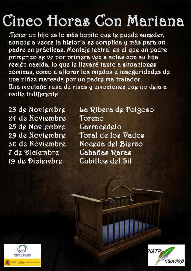 Cacabelos estrena la obra del berciano Andrés Campelo 'Cinco Horas con Mariana' el jueves 21 de noviembre 3