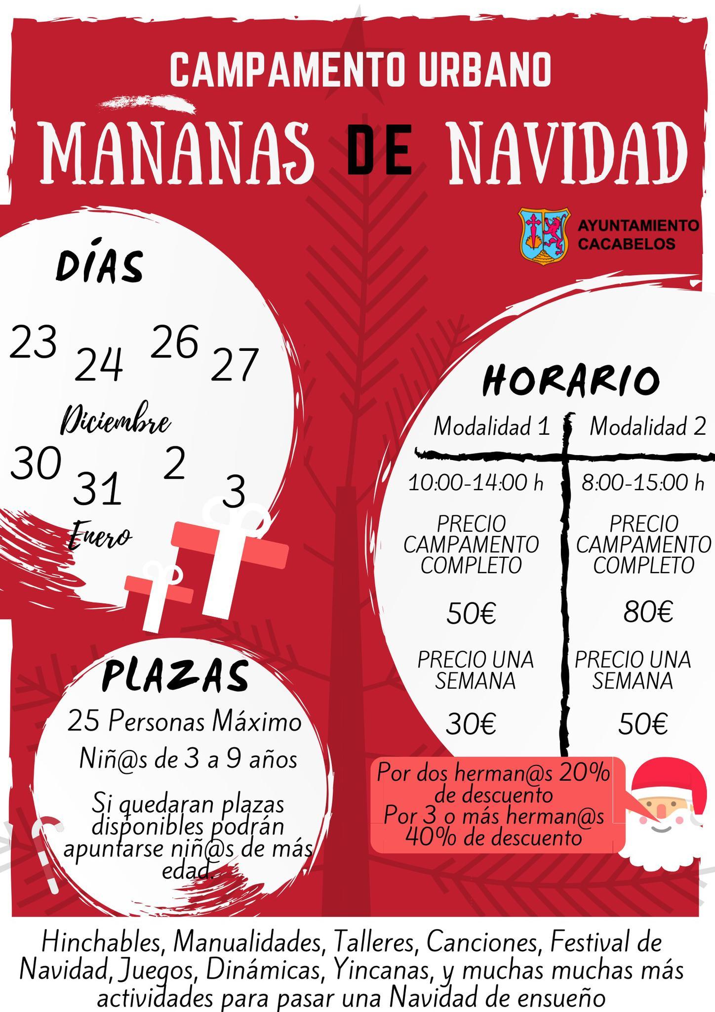 Cacabelos organiza su Campamento urbano navideño 2019 2