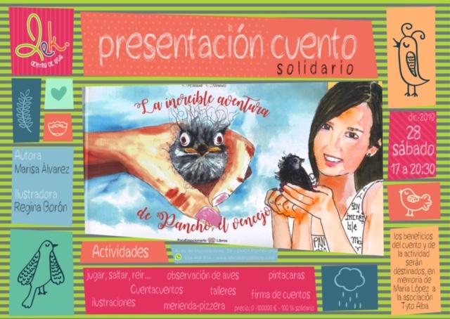 """Presentación del cuento solidario """"La increíble aventura de Pancho el vencejo"""" En el centro de ocio Lek 2"""
