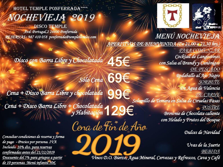 Cenas y cotillones de Nochevieja en el Bierzo para despedir 2019 2