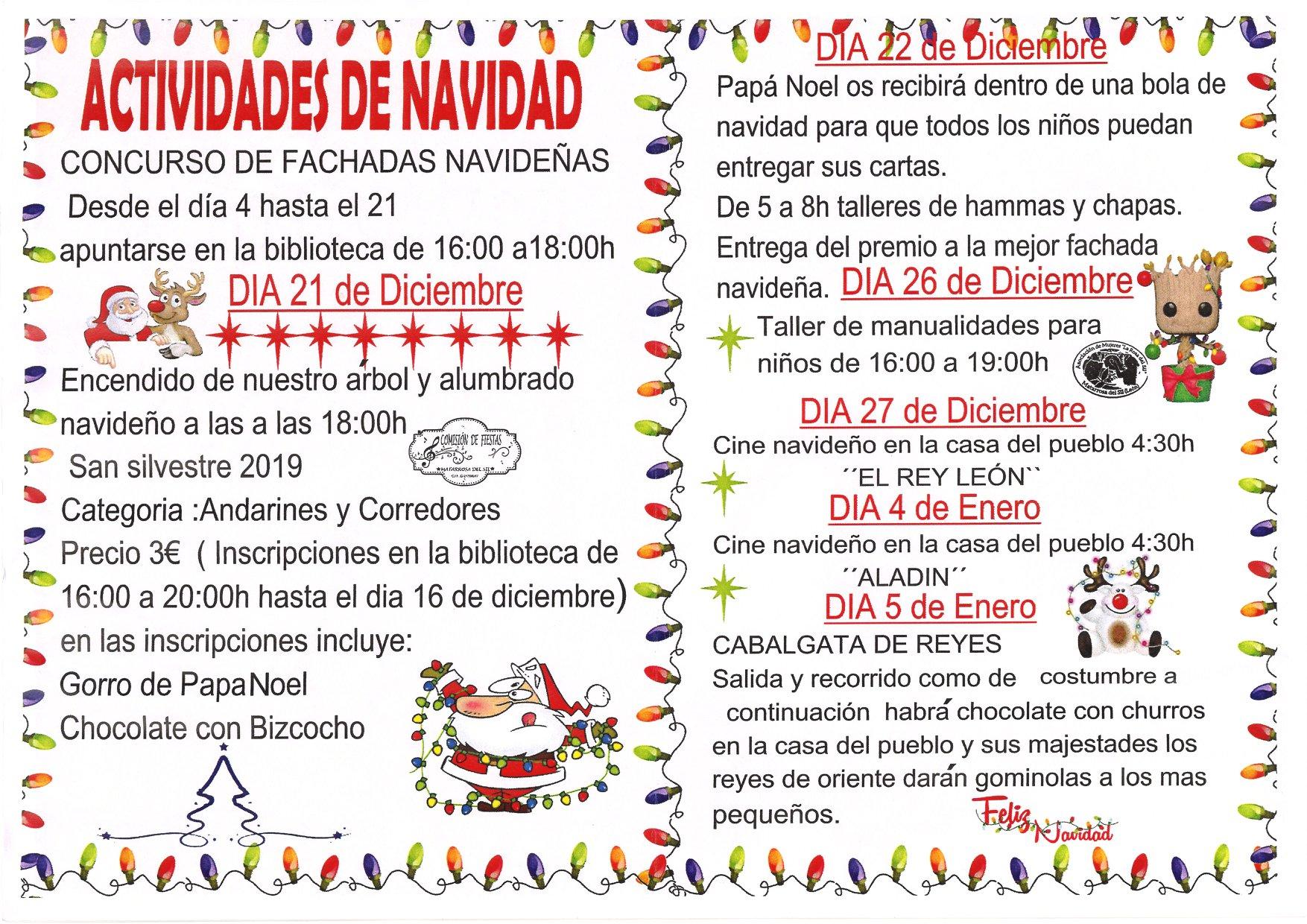 Navidad en Toreno 2019. programa y actividades 2
