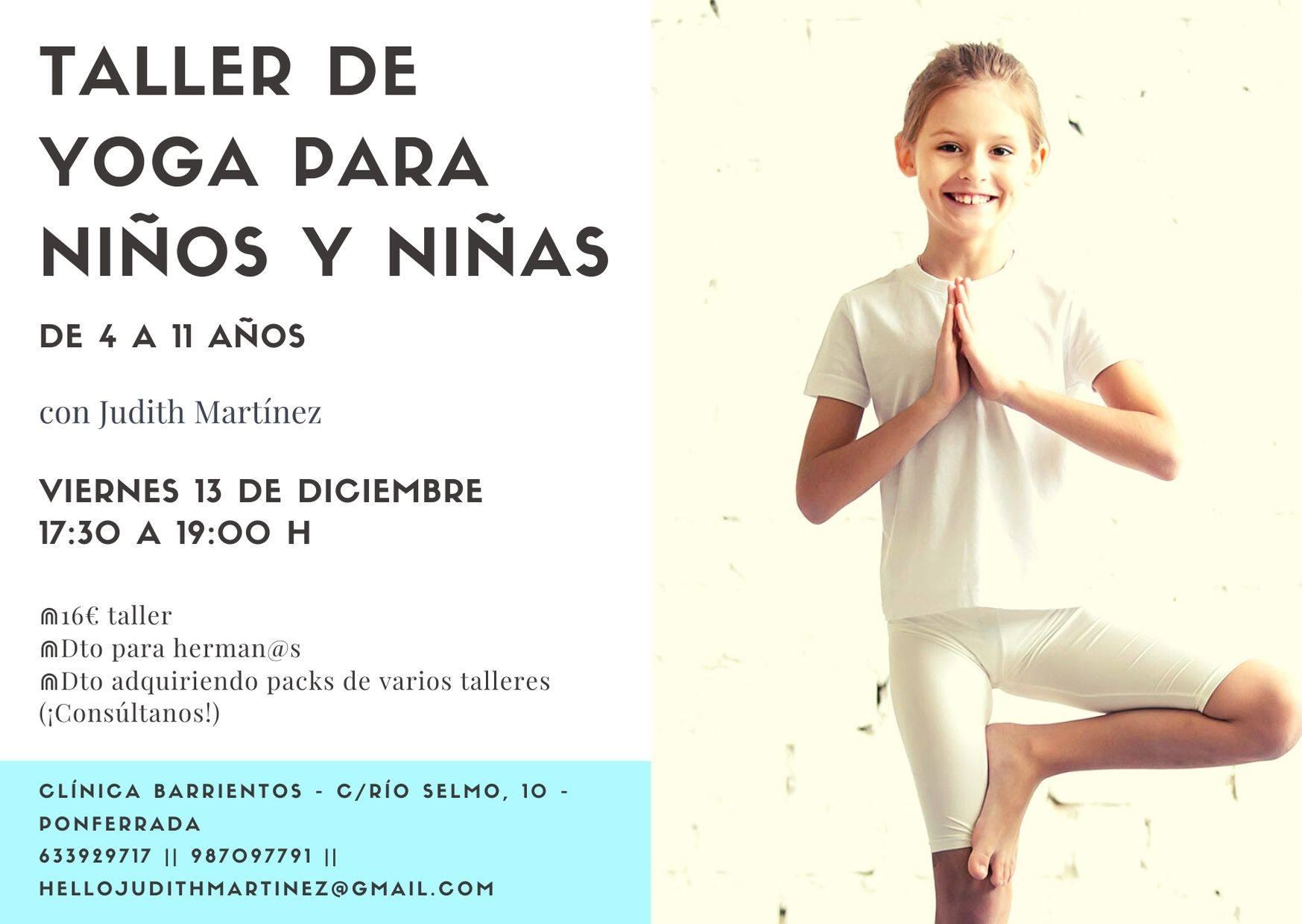 Clínica Barrientos organiza un taller de Yoga para niños 2