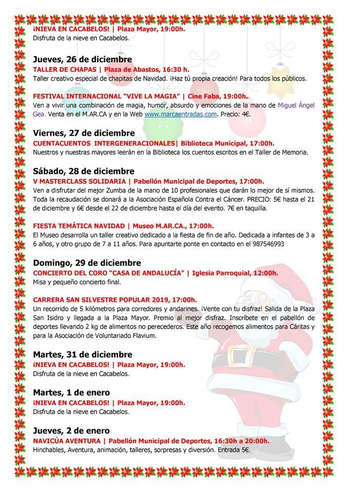 Programa de Navidad Cacabelos 2019 4