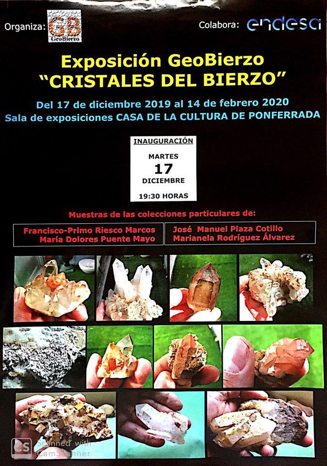 """Exposición Geobierzo """"Cristales del Bierzo"""""""