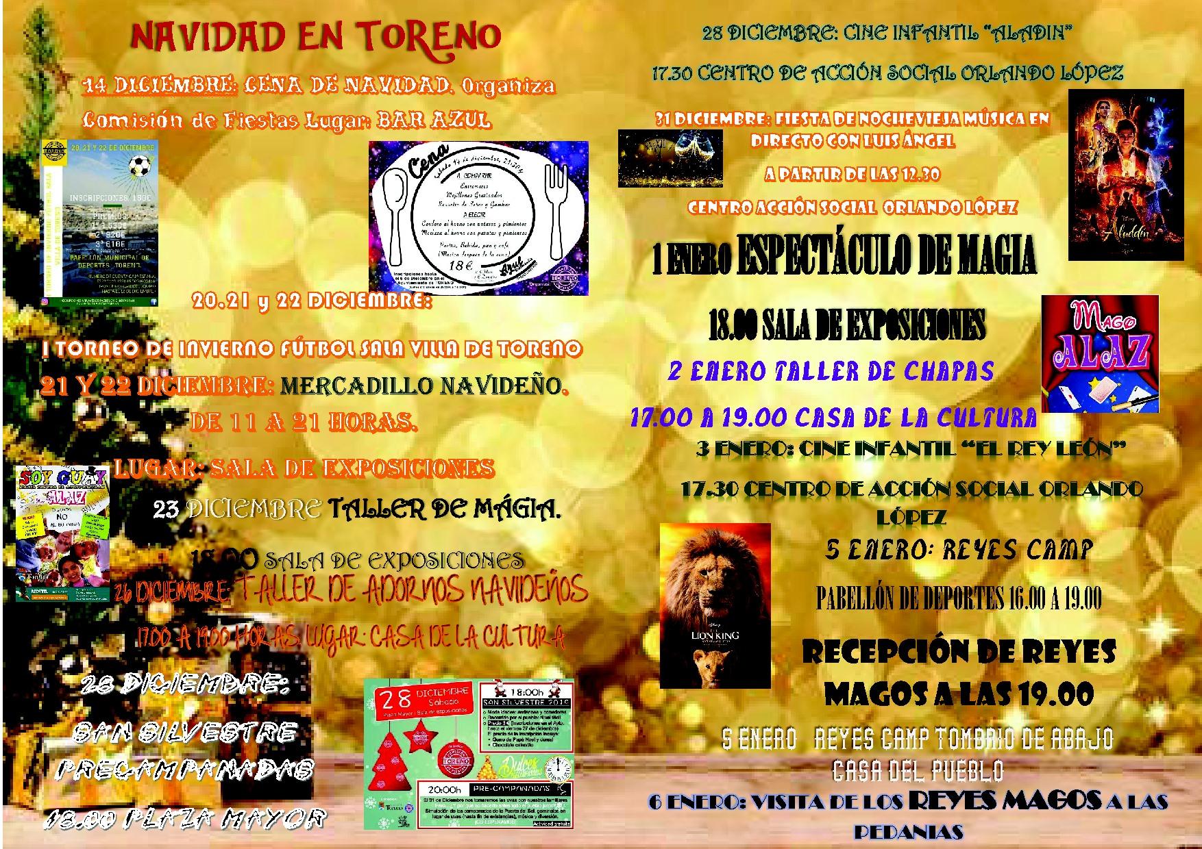 Navidad en Toreno 2019. programa y actividades 3