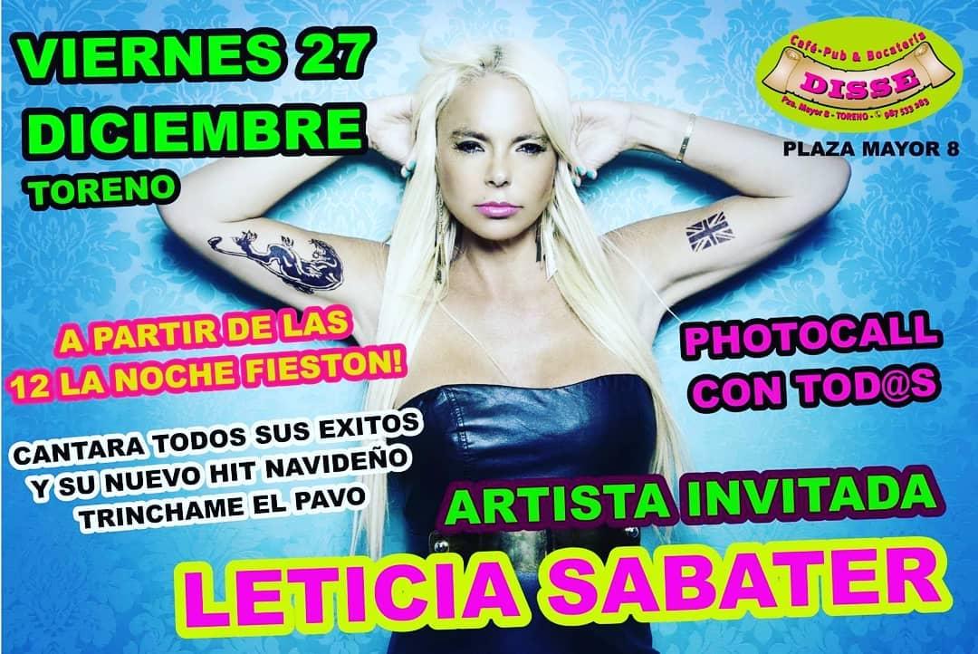 Leticia Sabater 'Trincha el pavo' este viernes en Toreno 2