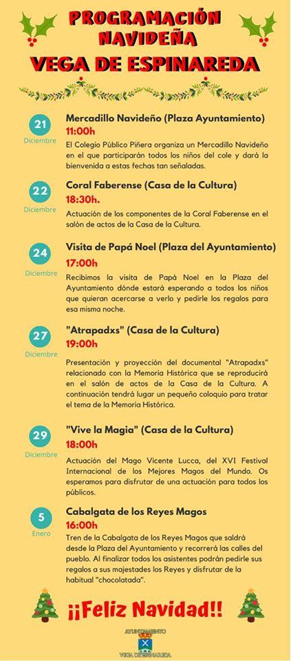 Programa de Navidad 2019 en Vega de Espinareda 2