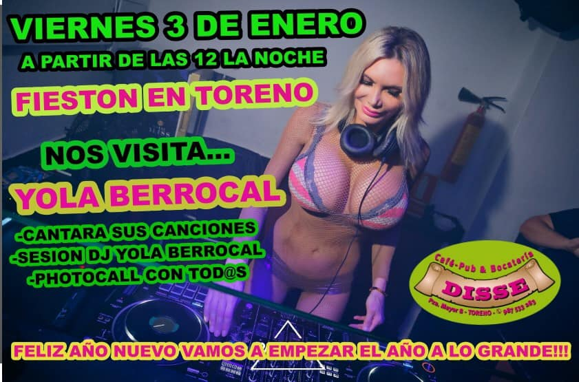 El Pub Disse de Toreno trae este viernes a la mediática Yola Berrocal 2