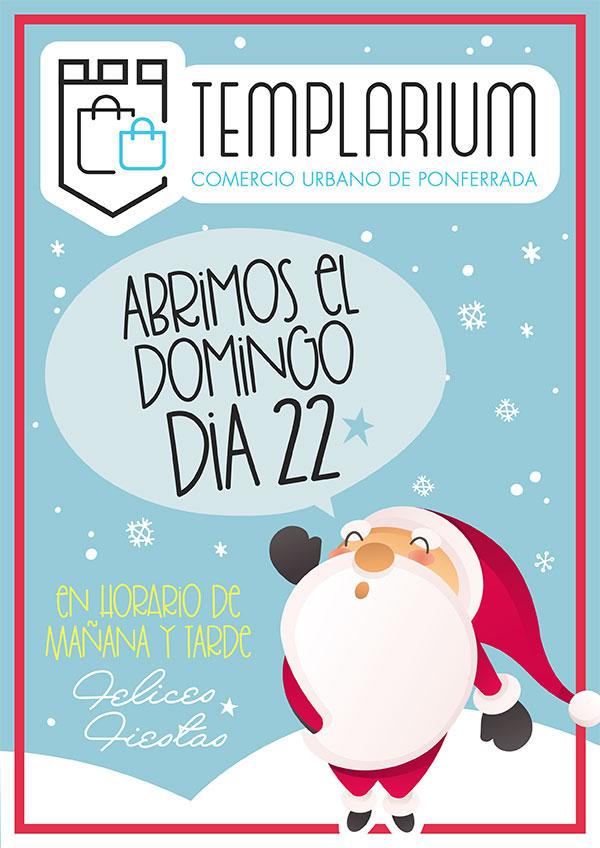 Los Comercios de la Asociación Templarium abren este domingo para facilitar las compras 2