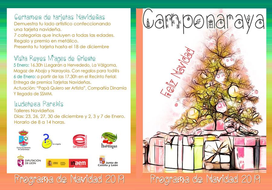 Programa de Navidad 2019 en Camponaraya 3
