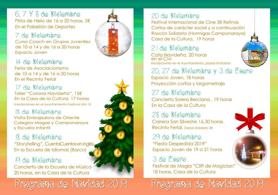 Programa de Navidad 2019 en Camponaraya 2