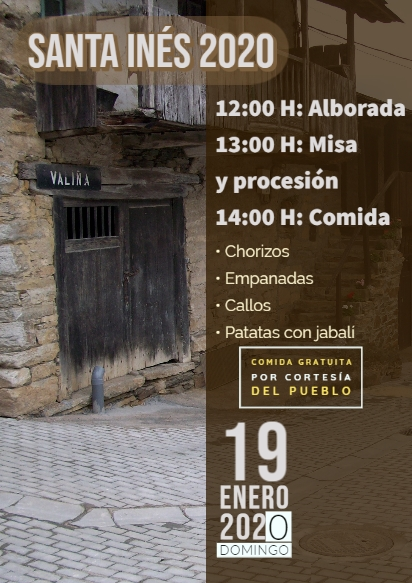 La localidad de Valiña celebra este domingo Santa Inés 2