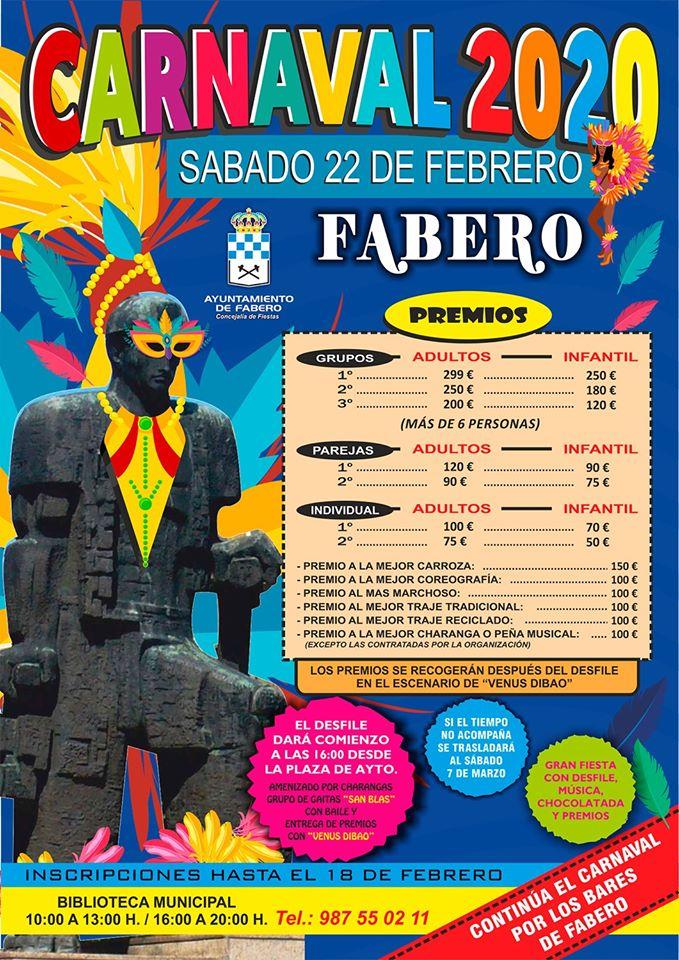Fabero celebra su desfile de Carnaval el sábado 22 de febrero 2