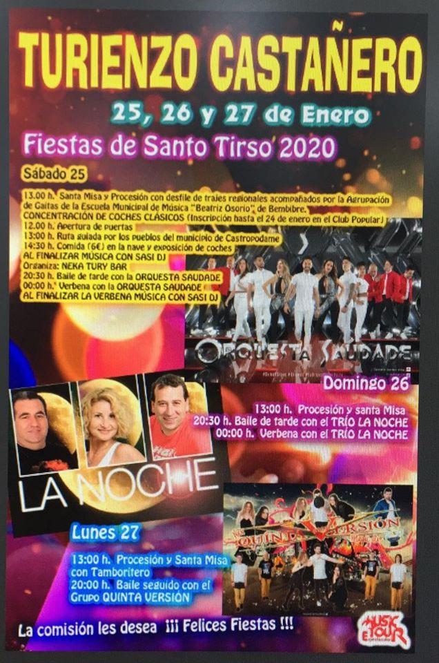 Grandes Fiestas en honor a Santo Tirso 2020en Turienzo Castañero 2