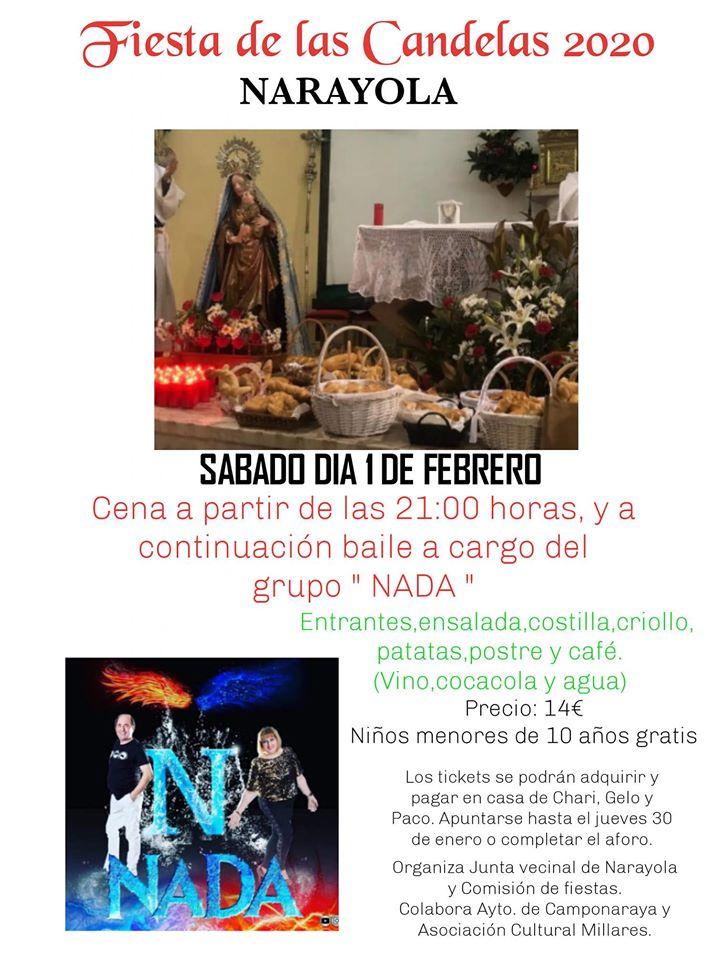 Narayola celebra Las Candelas el 1 de febrero 2