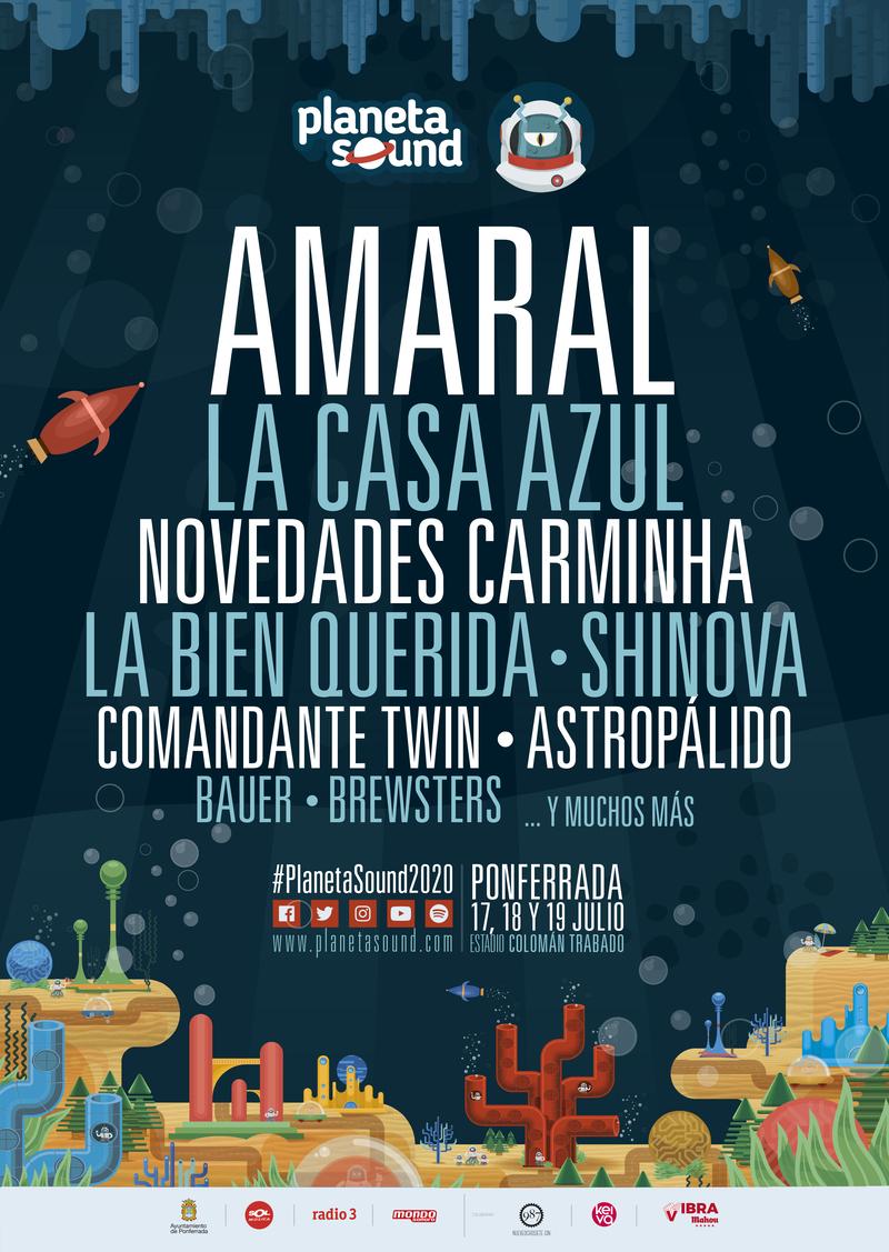 'Novedades Carminha', Astropálido, 'La Bien Querida' y los bercianos 'Brewster' confirmaciones del Festival Planeta Sound 2