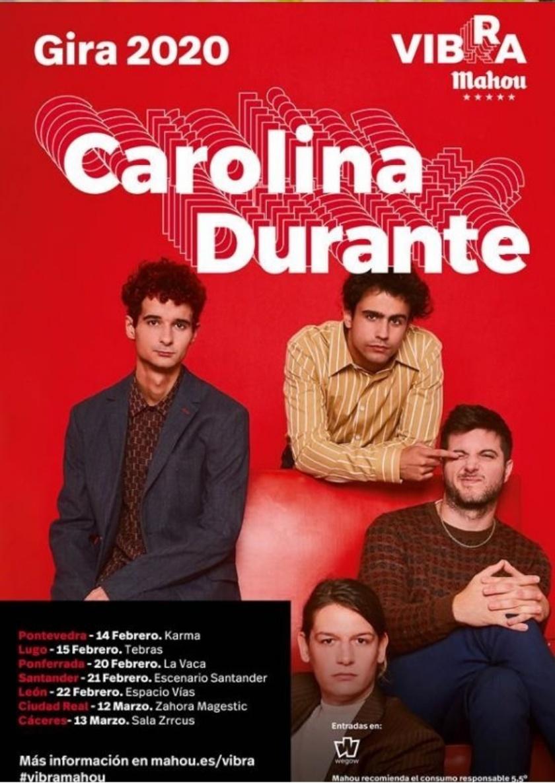 La gira Vibra Mahou trae a Ponferrada a Carolina Durante en en una tourné por siete ciudades españolas 2