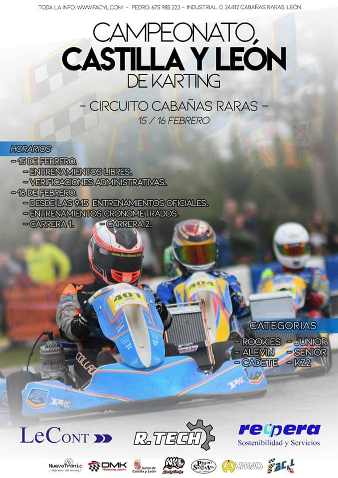 El Karting de Cabañas Raras acogerá en Febrero una prueba del Campeonato de Castilla y León de Karting 2