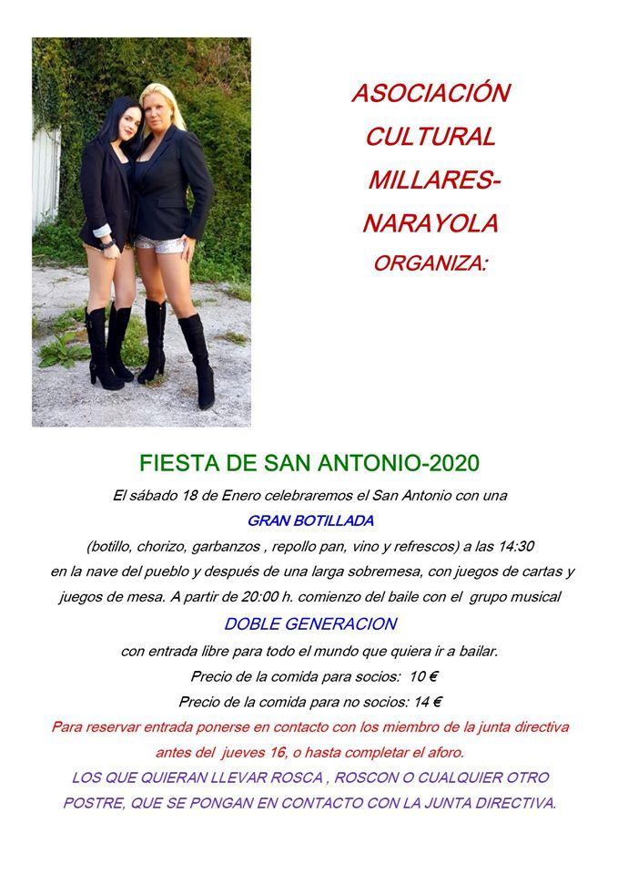 Fiesta de San Antonio en Narayola organizada por la Asociación Millares 2