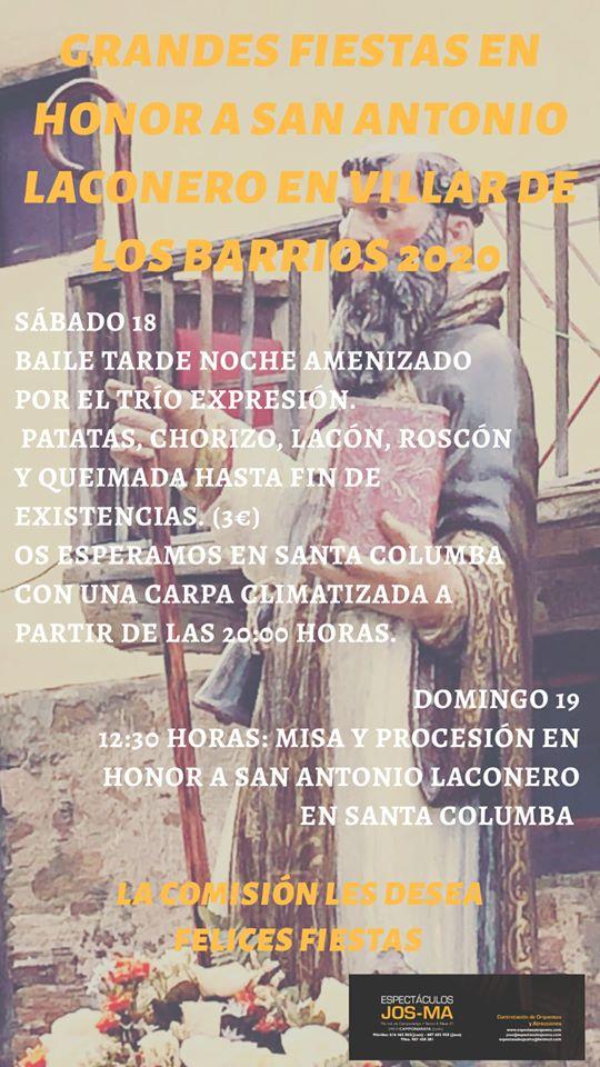 Fiestas en honor a San Antonio Laconero en Villar de los Barrios 2