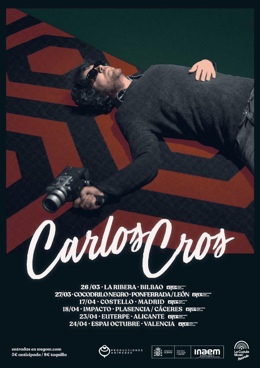 """Carlos Cros presentará en marzo en Ponferrada su nuevo disco dentro de """"Girando por salas"""" 2"""