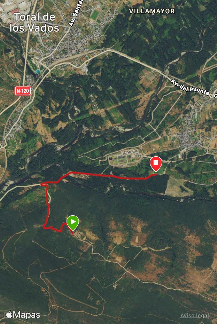 Ruta: Un paseo de Viladepalos a Peón 14