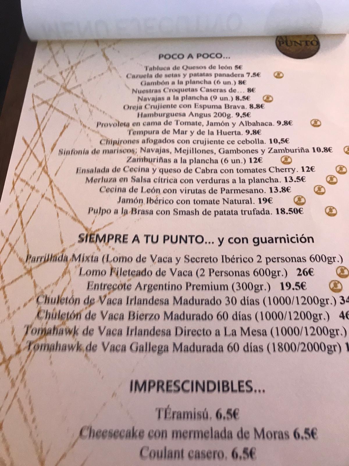 Reseña gastronomica: Restaurante Al Punto de Ponferrada 8