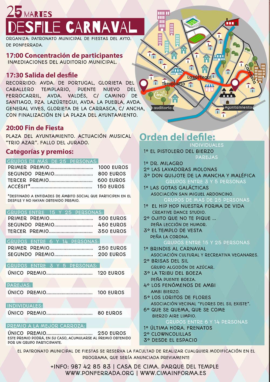 Carnaval en Ponferrada 2020. Programa de actividades 2