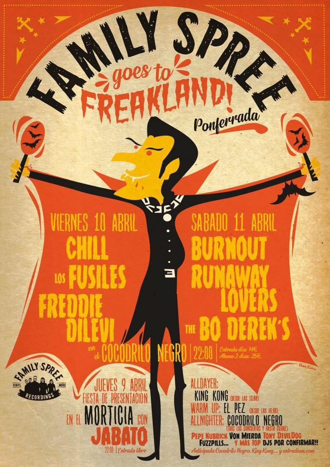 No habrá Freakland en Semana Santa, pero si mucho Rock & Roll con el 'Family Spree goes to Freakland!' 3