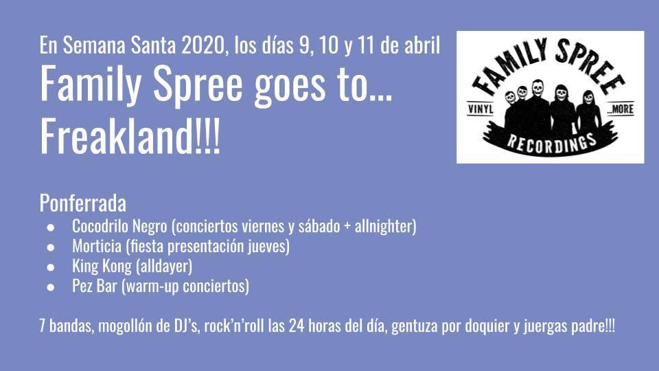 No habrá Freakland en Semana Santa, pero si mucho Rock & Roll con el 'Family Spree goes to Freakland!' 4