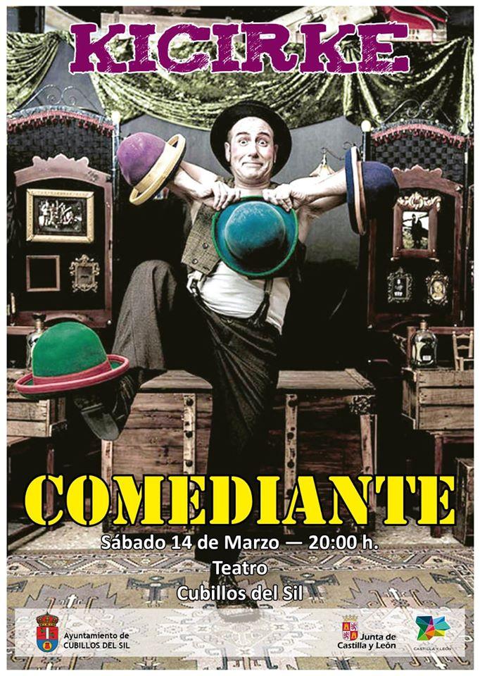 """El Teatro de Cubillos del Sil presenta """"El Comediante"""" el próximo sábado para público familiar 2"""