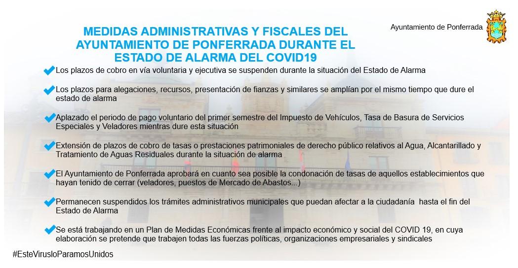 Ponferrada condonará las tasas a comercios y negocios que hayan tenido que cerrar durante la Alerta Sanitaria 2