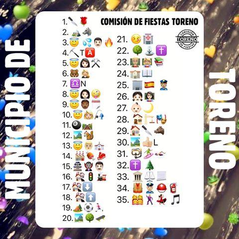 La Comisión de Fiestas de Toreno propone un reto a los vecinos, basado en emojis que representan fiestas, servicios y poblaciones del municipio 2