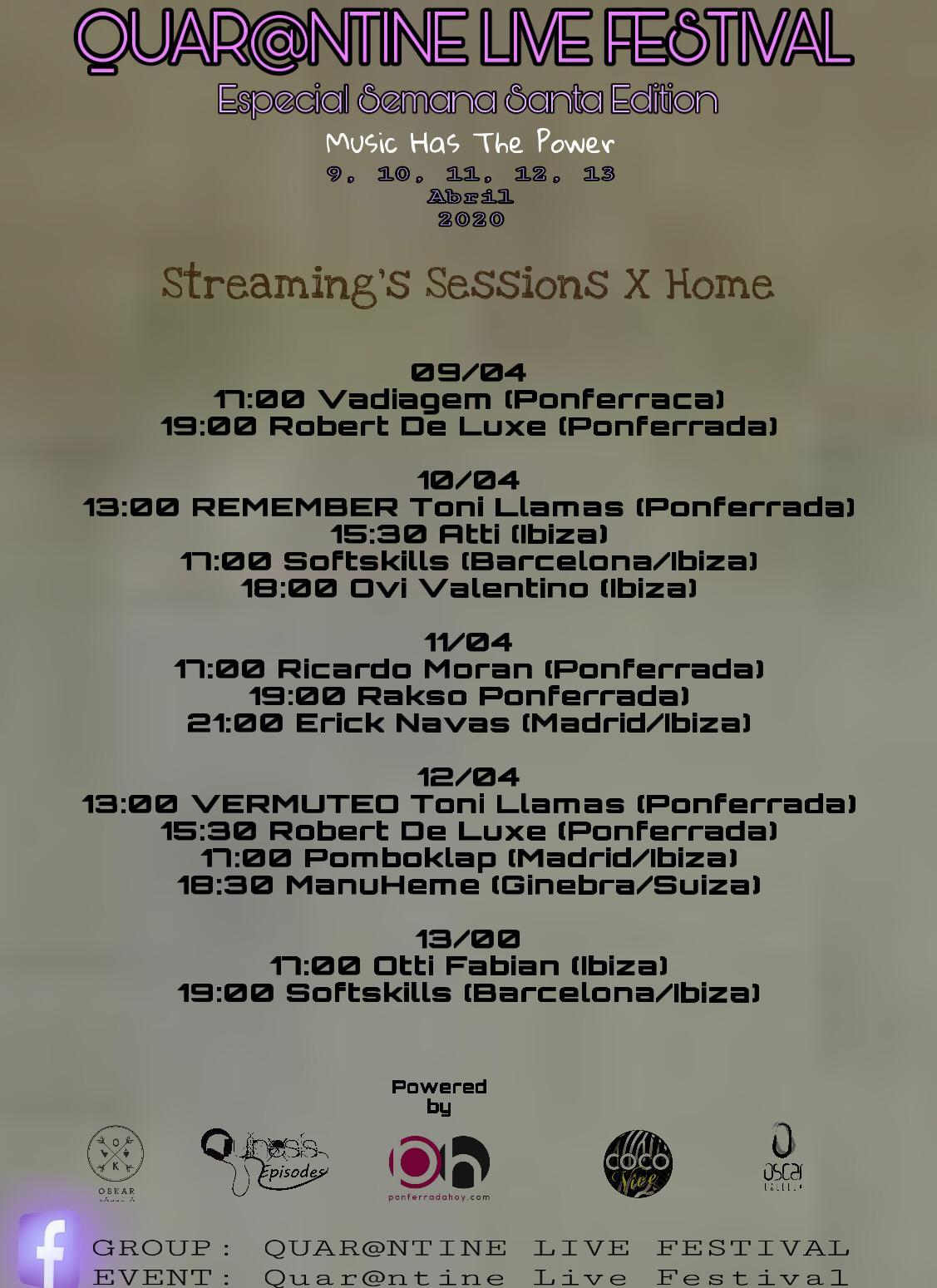 Quar@ntine Live Festival: Djs locales organizan un evento global de música electrónica en streaming durante la Semana Santa 2